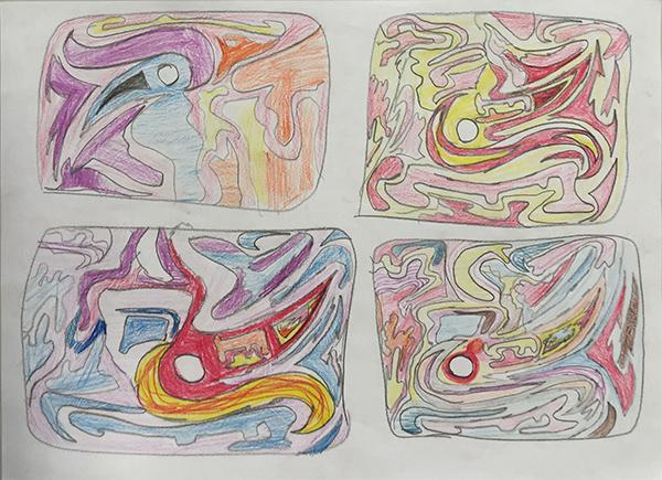 Un ejemplo de pruebas de color para el Proyecto Mi Arte.