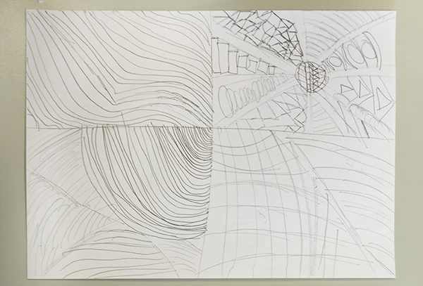 Un ejemplo de bocetos para el Proyecto Mi Arte.