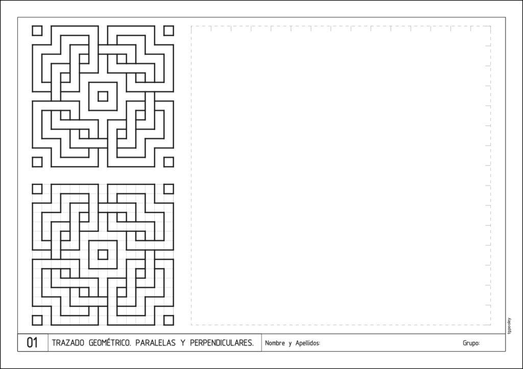 Lámina de muestra de 3º de ESO Dibujo Técnico