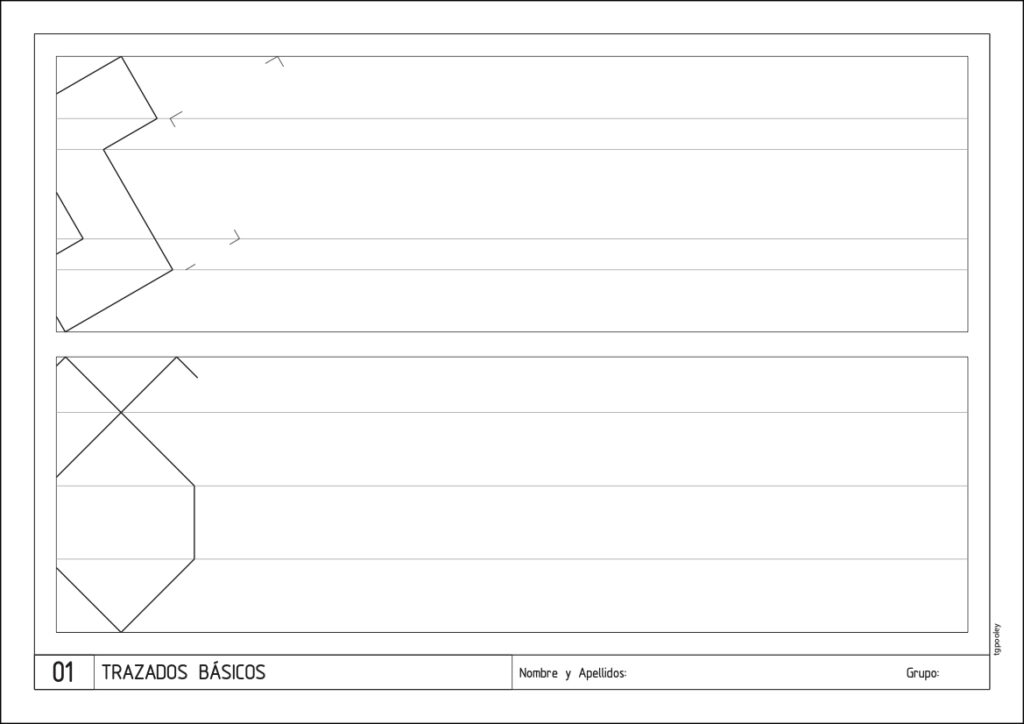 Imagen de una lámina de muestra de 1 de ESO Dibujo Técnico