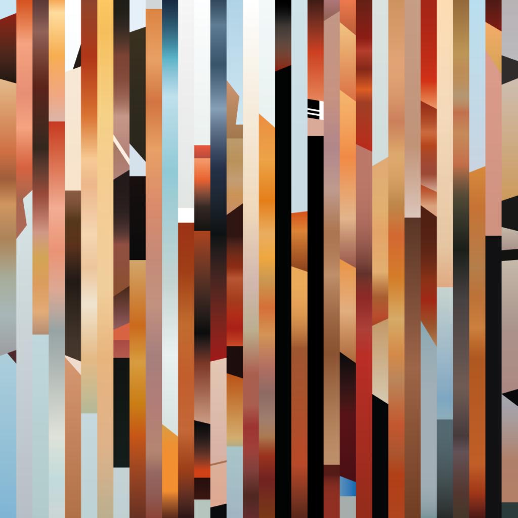 Recreación digital de la obra Autorretrato