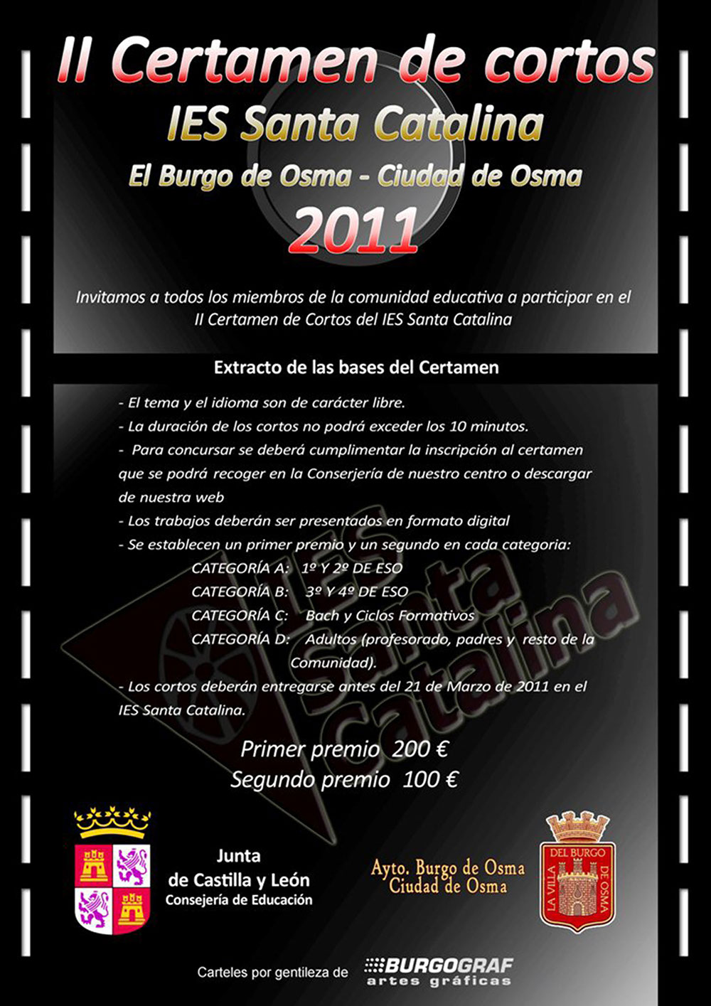 Cartel II Certamen de Cortos 2011