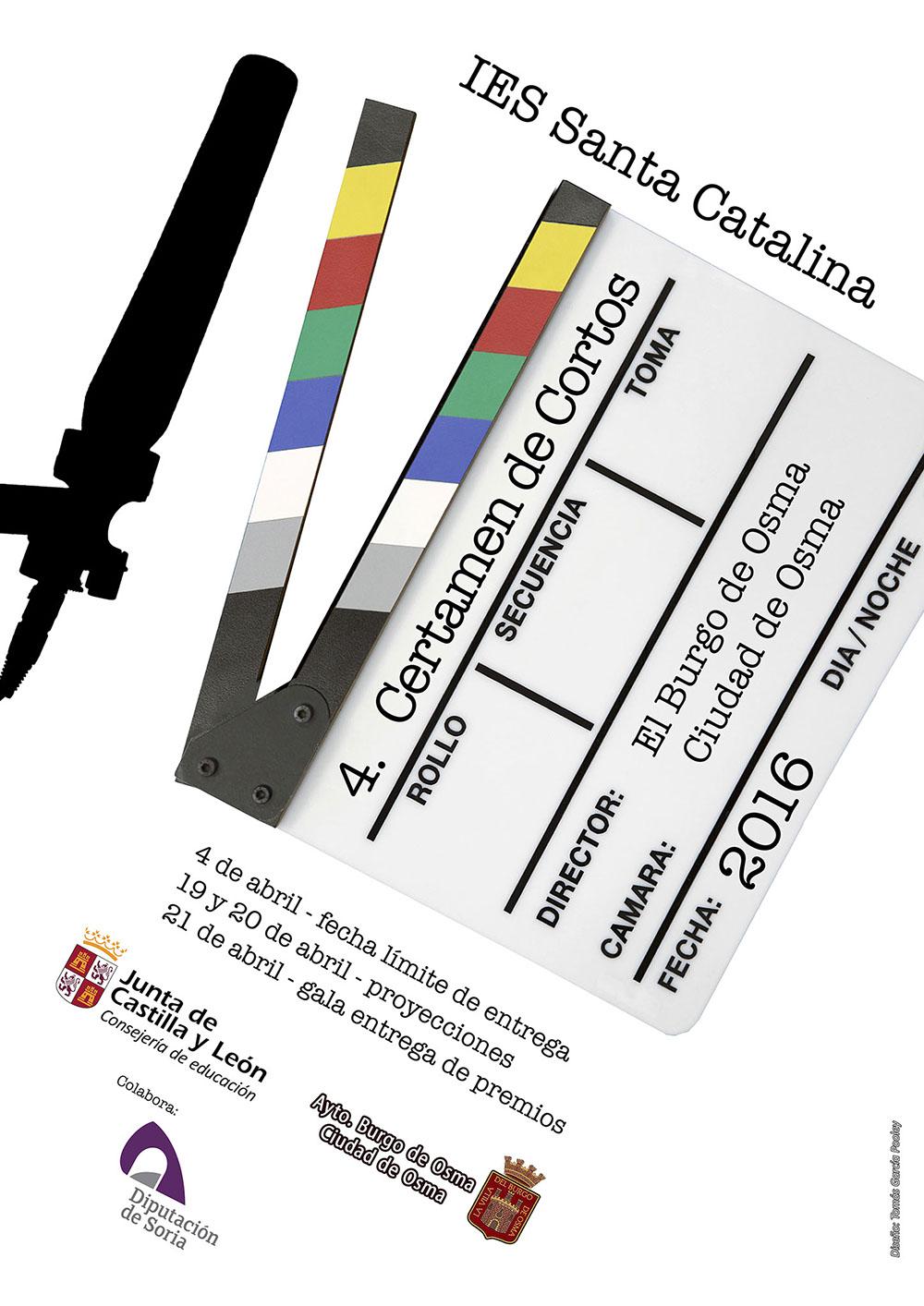 Cartel IV Certamen de Cortos 2016